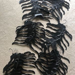 60 Black Plastic Clothes Hangers Clothing Retail